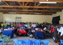 Teaching High School students at Limuru