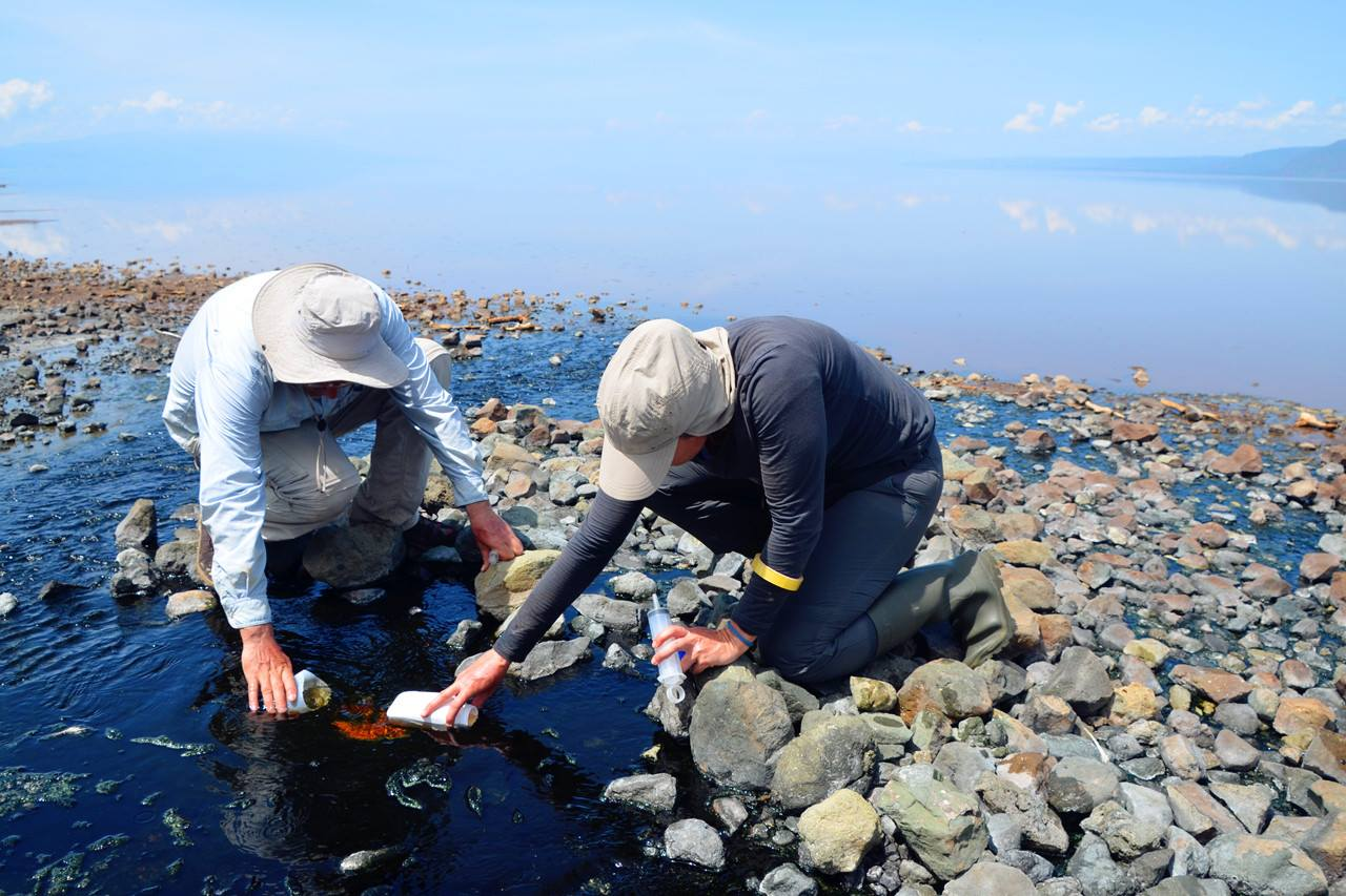 Sampling Lake Natron-6